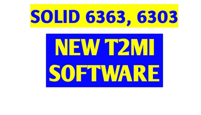 solid 6363 6303 t2mi software