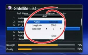 satellite name